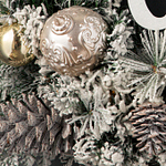 Winter Joy Flocked Wreath by Balsam Hill Foliage