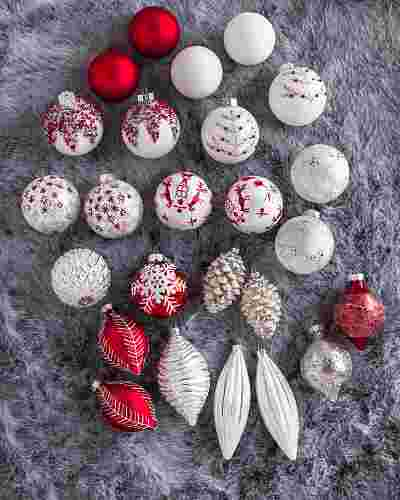 Nordic Frost Ornament Set, 25 Pieces by Balsam Hill