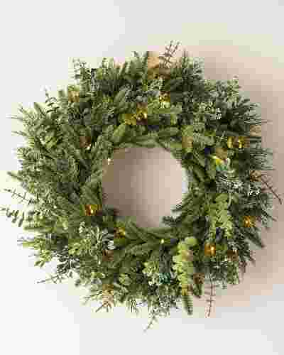 BH Fraser Fir Meadow Wreath by Balsam Hill