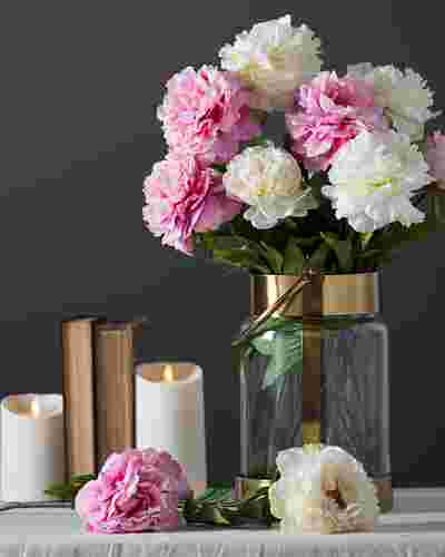 Peony Flower Stems by Balsam Hill Lifestyle 10