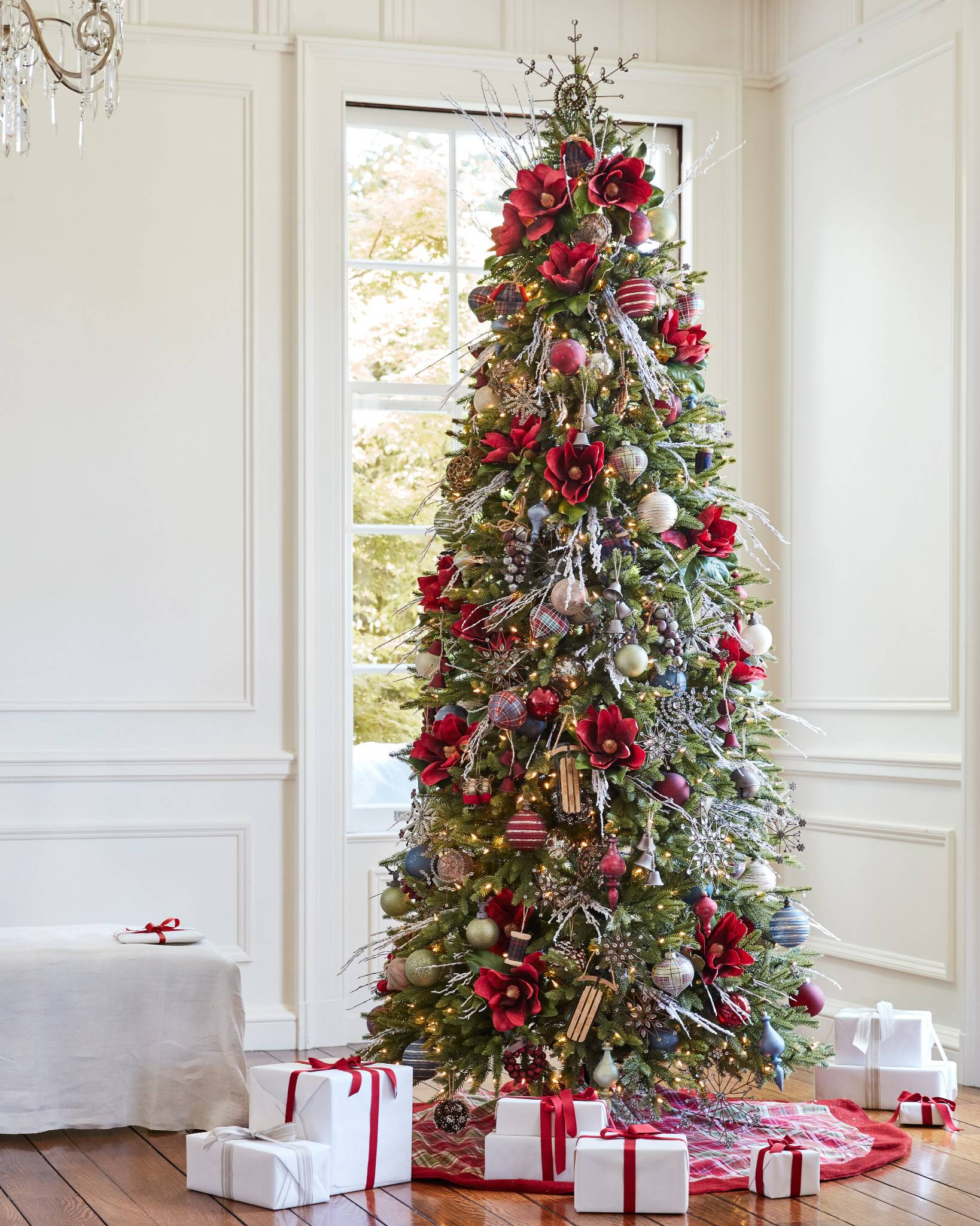 Silverado Slim Artificial Christmas Tree In Home By Balsam Hill