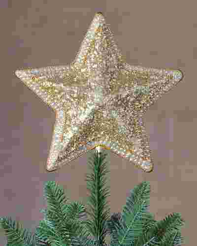 Classic Star Beaded Tree Topper by Balsam Hill