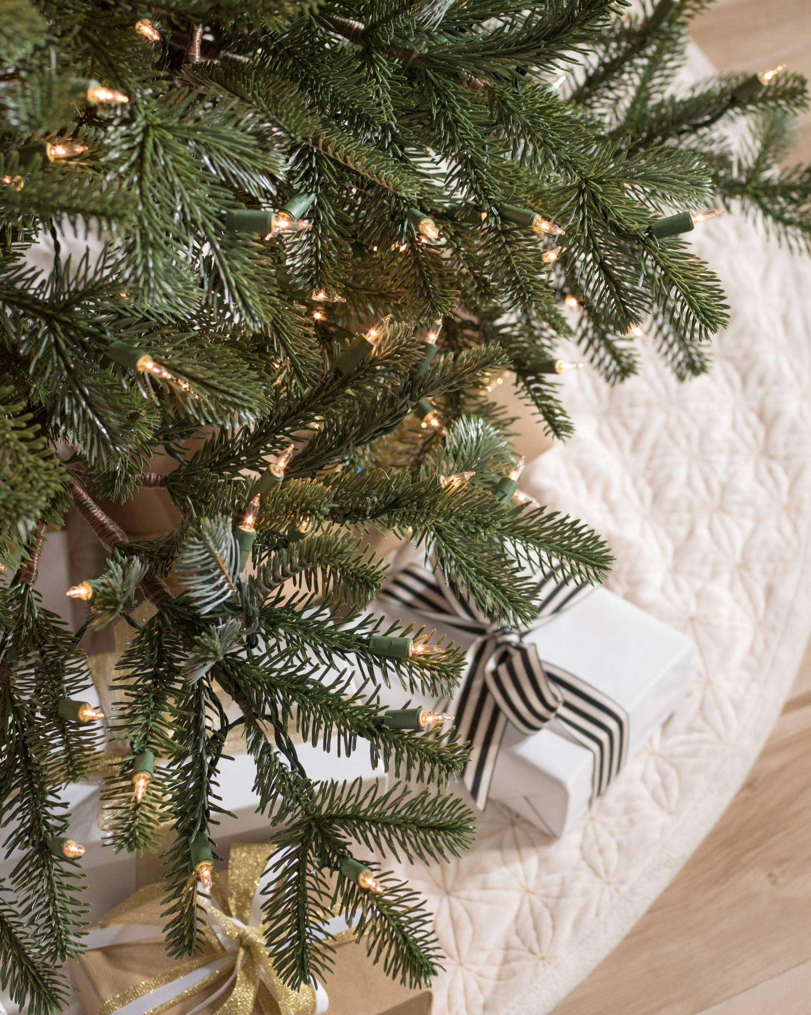 Nordmann Fir Narrow Artificial Christmas Tree | Balsam Hill