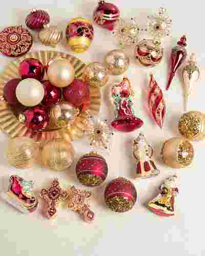 Noel Glass Ornament Set 35 Pieces by Balsam Hill