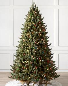 Pre-lit Christmas Trees with Color + Clear Lights | Balsam Hill