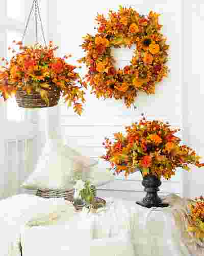 Outdoor Sunburst Mums by Balsam Hill Lifestyle 10