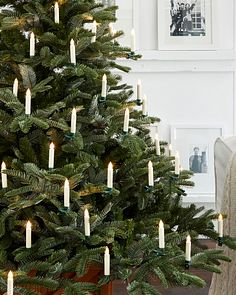 Color Changing LED Christmas Tree Candles, Set of 20