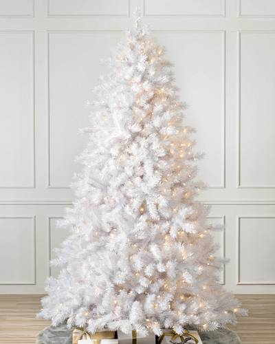 classic white christmas tree 1 clear lights
