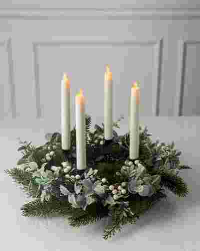 White Berry and Sage Advent Wreath by Balsam Hill