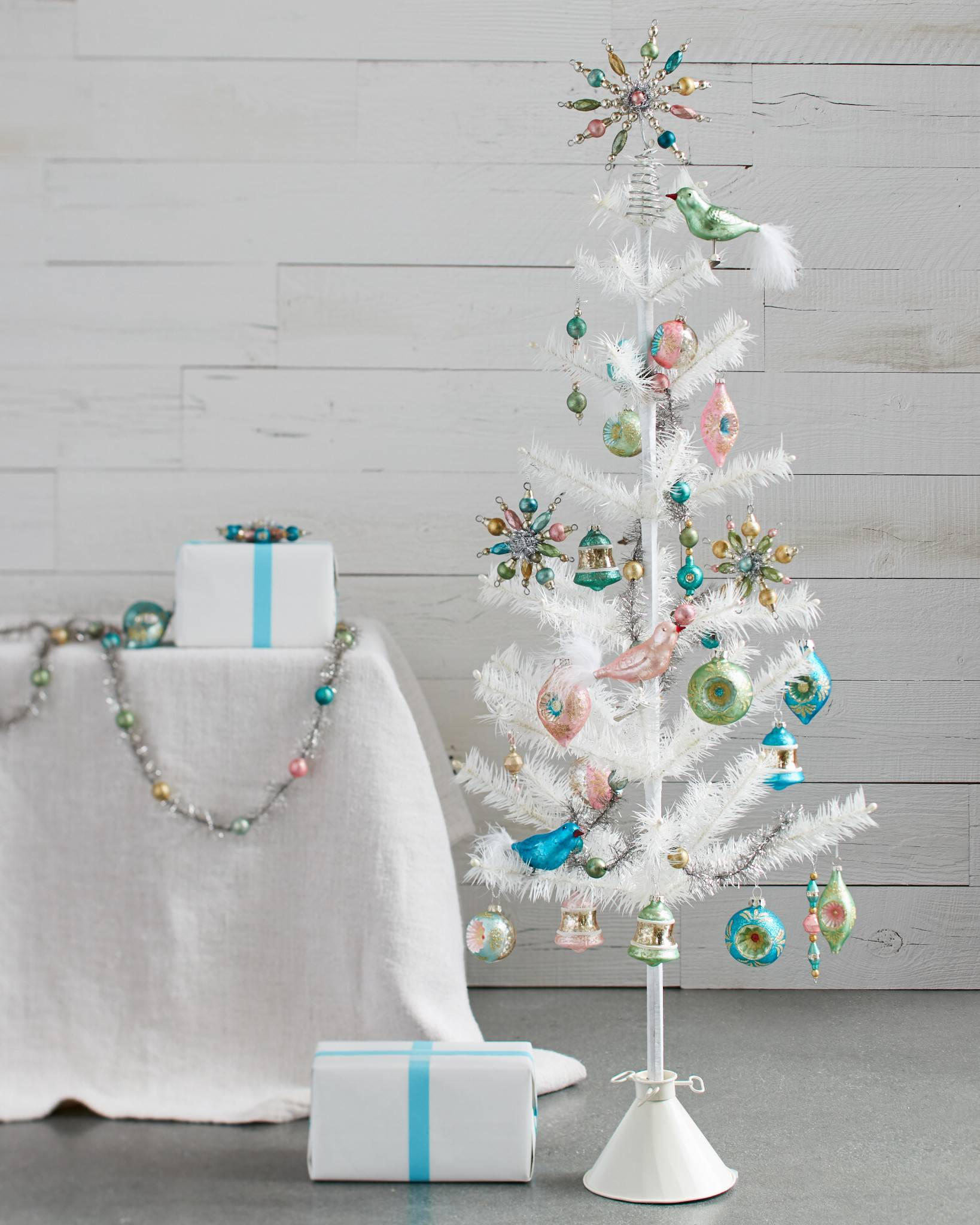 mini christmas tree decorating set by balsam hill denali white