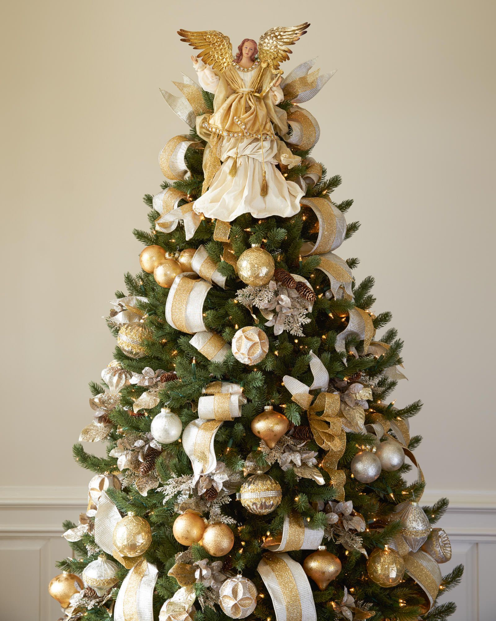 Christmas Tree Angel Decorations: Gold Angel Tree Topper