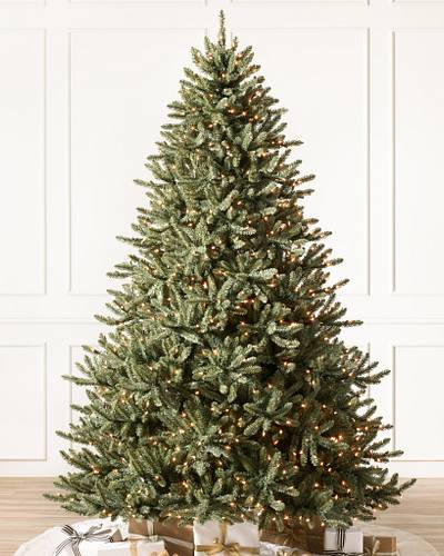 Classic Blue Spruce Tree-1. Candlelight™ LED Lights - Blue Spruce Christmas Tree Balsam Hill