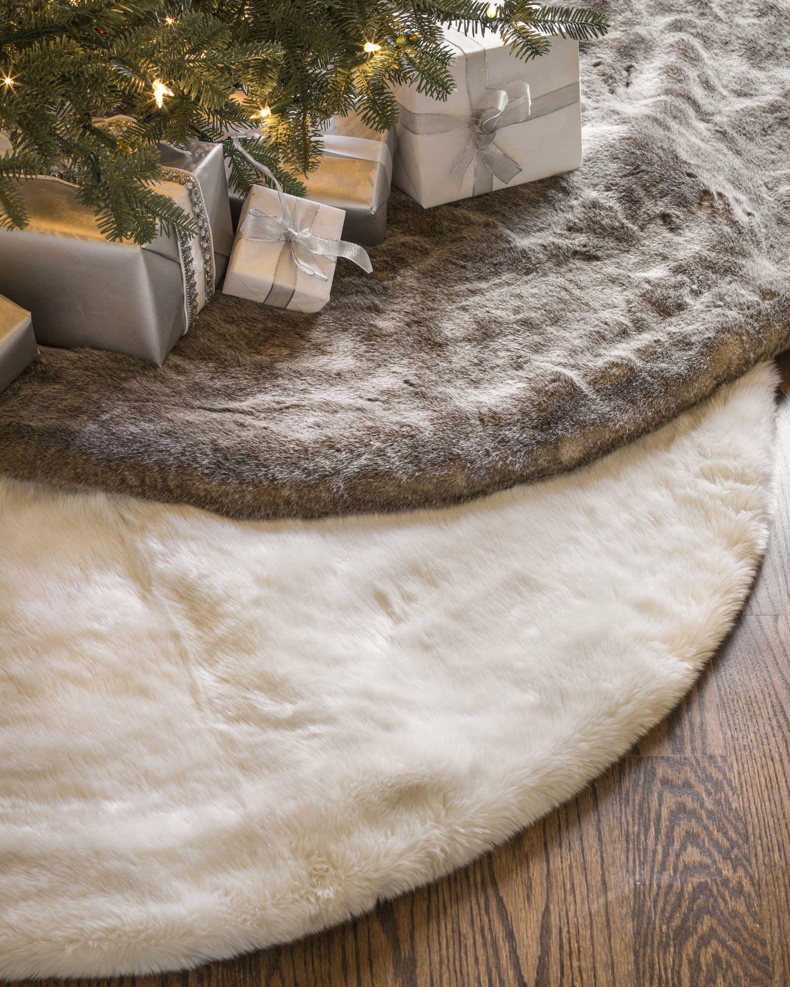 Lodge Faux Fur Tree Skirt Balsam Hill