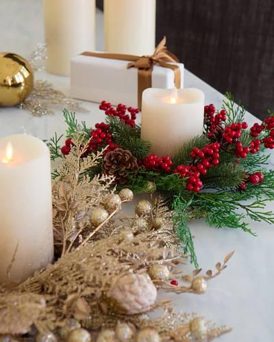 Christmas Candle Rings.Christmas Candle Rings Set Of 3 Balsam Hill
