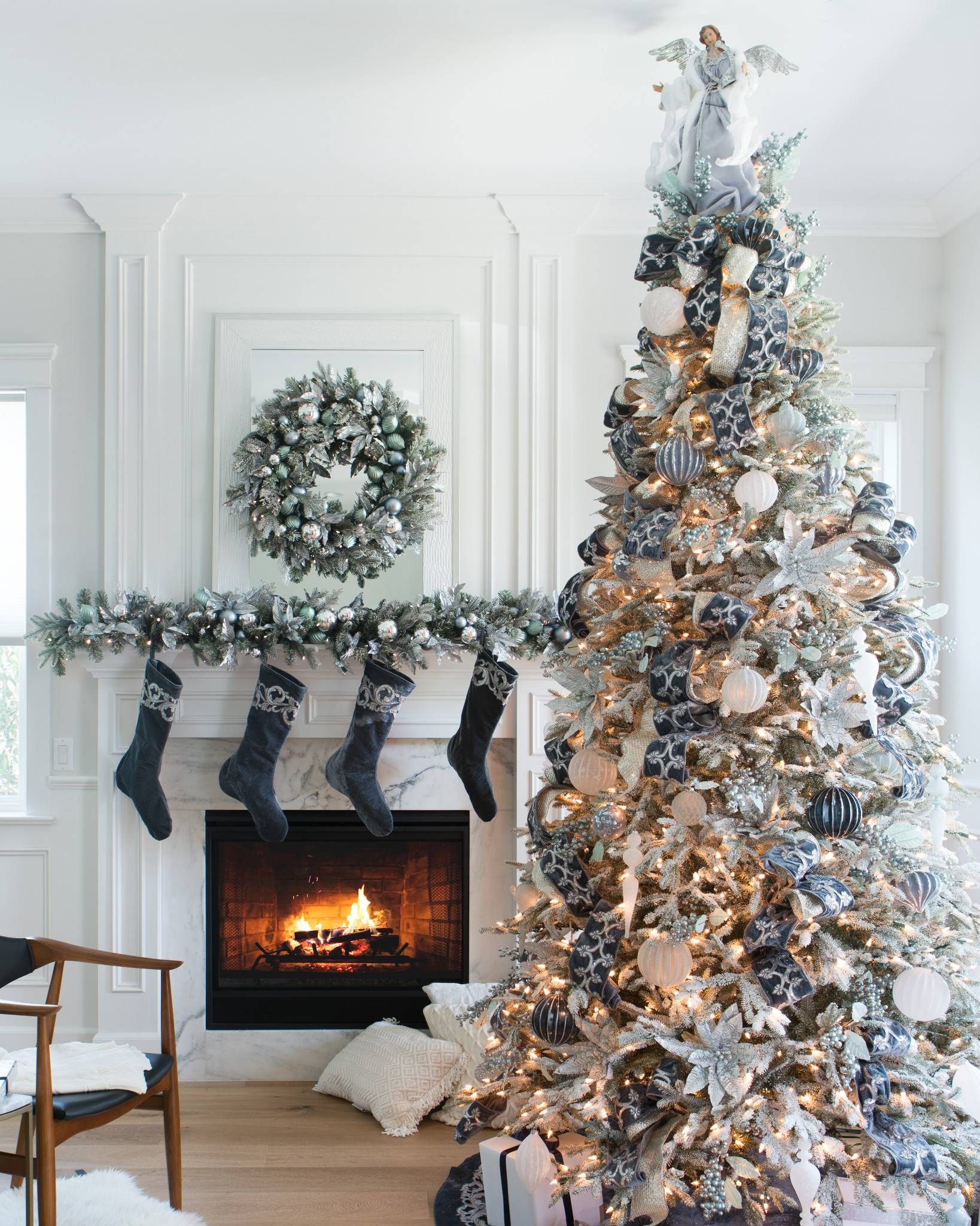 ... Frosted Fraser Fir Artificial Christmas Tree in-home by Balsam Hill ...
