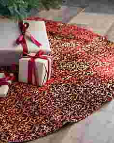Brocade Velvet Tree Skirt by Balsam Hill