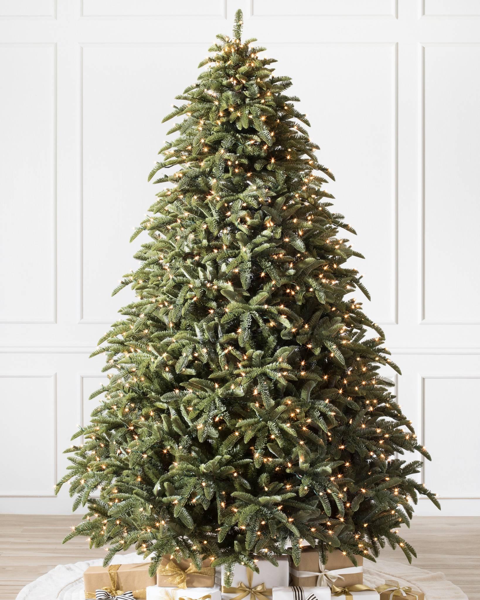 Artificial Christmas Trees Uk.Noble Fir Artificial Christmas Tree Balsam Hill