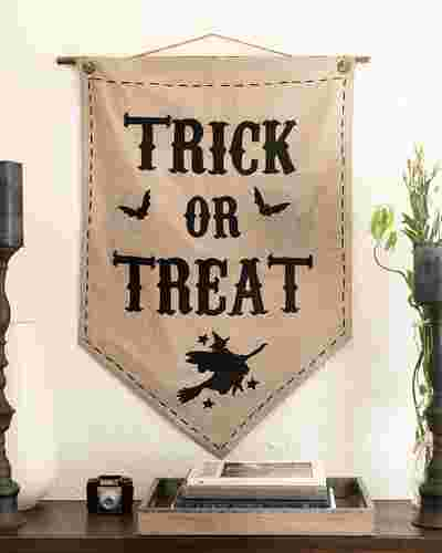 Trick or Treat Banner by Balsam Hill